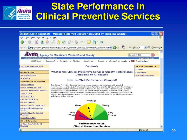 State Performance in