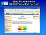 state performance in clinical preventive services