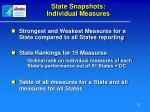 state snapshots individual measures