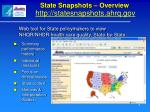 state snapshots overview http statesnapshots ahrq gov