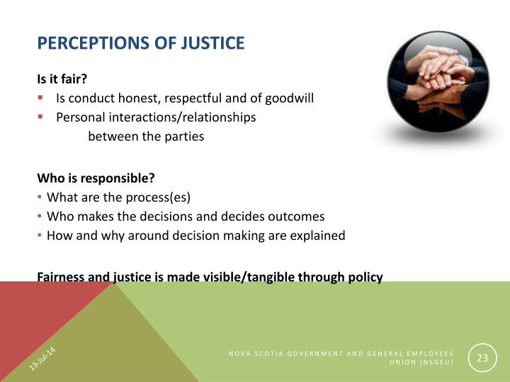 Perceptions of Justice