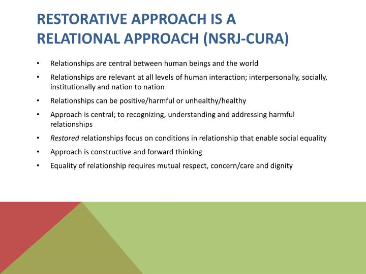 Restorative Approach is a
