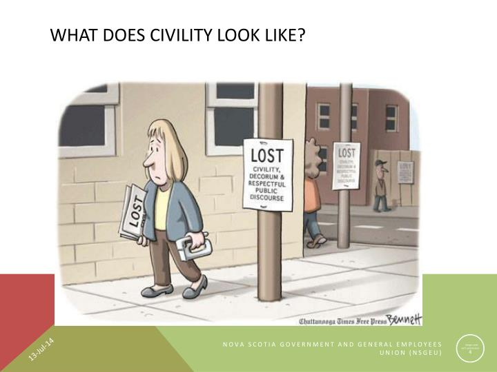 What Does Civility Look Like?