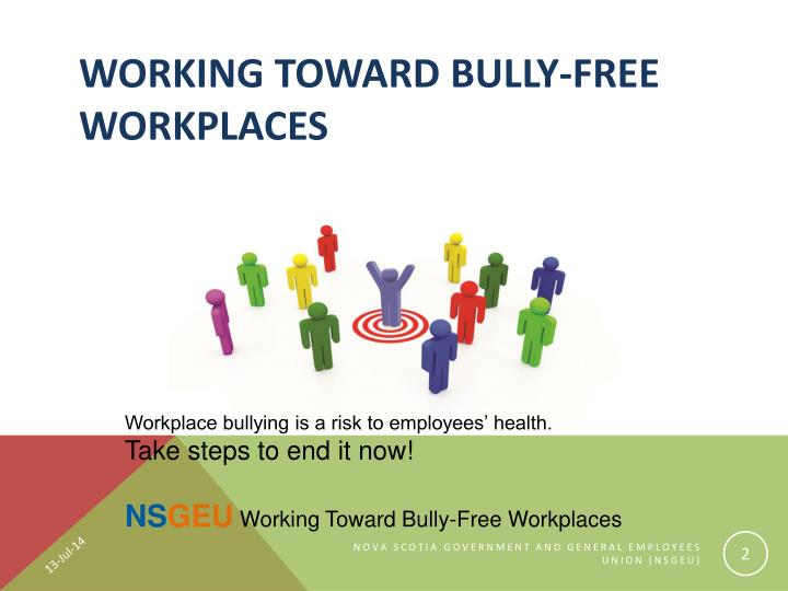 Working toward Bully-Free Workplaces