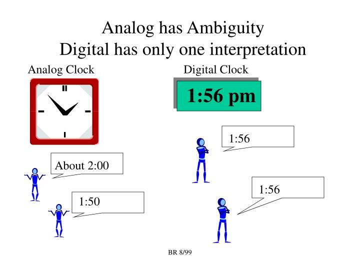 Analog has Ambiguity