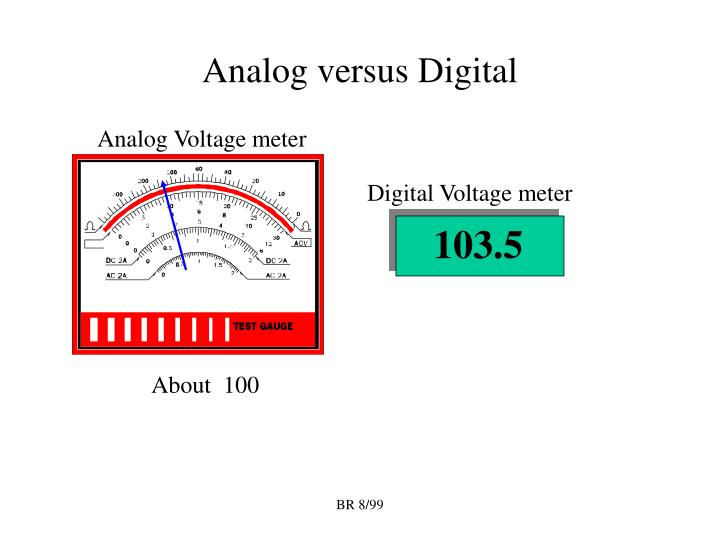 Analog versus digital