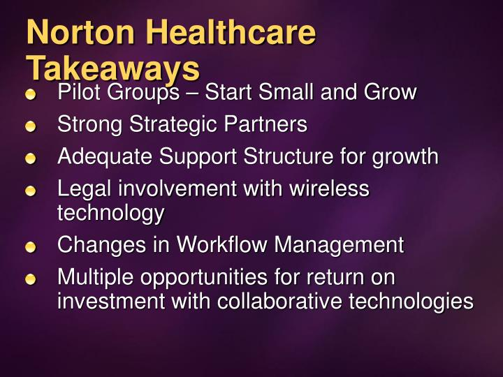 Norton Healthcare Takeaways