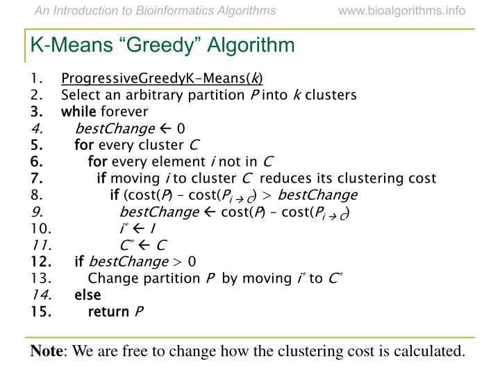 "K-Means ""Greedy"" Algorithm"
