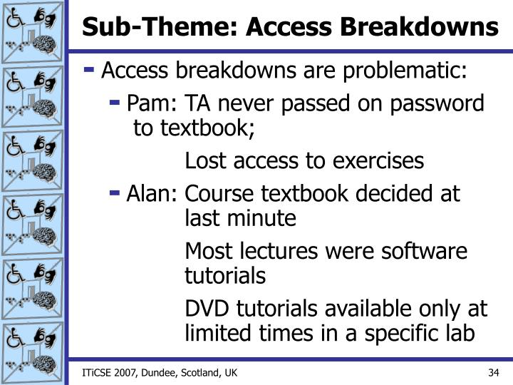 Sub-Theme: Access Breakdowns