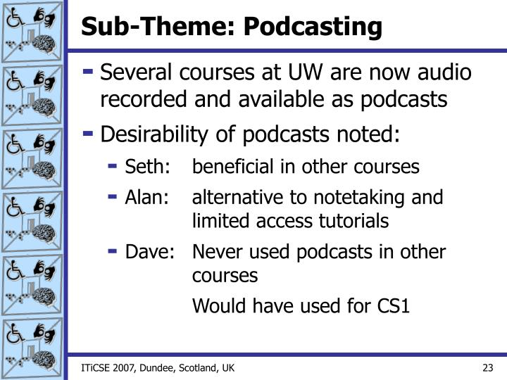 Sub-Theme: Podcasting
