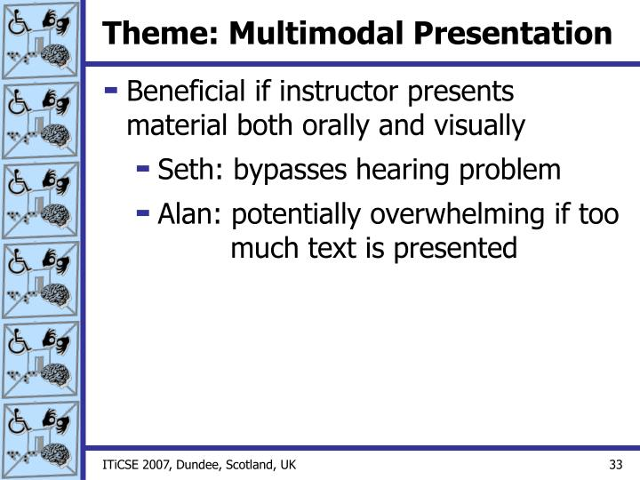 Theme: Multimodal Presentation