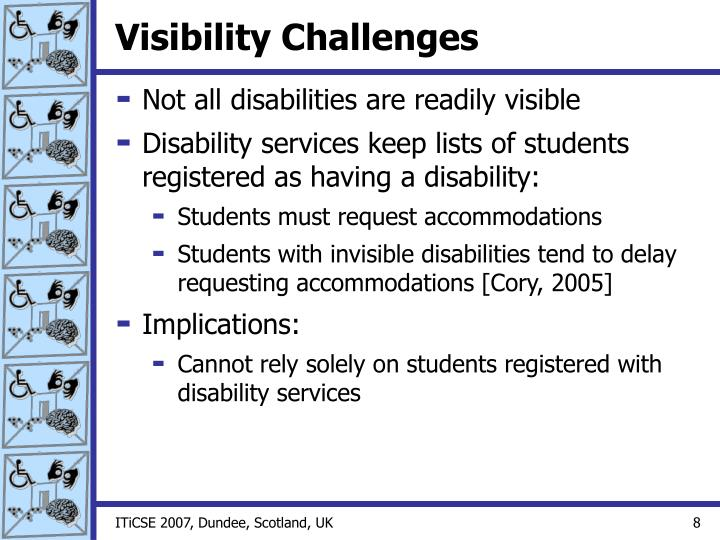 Visibility Challenges