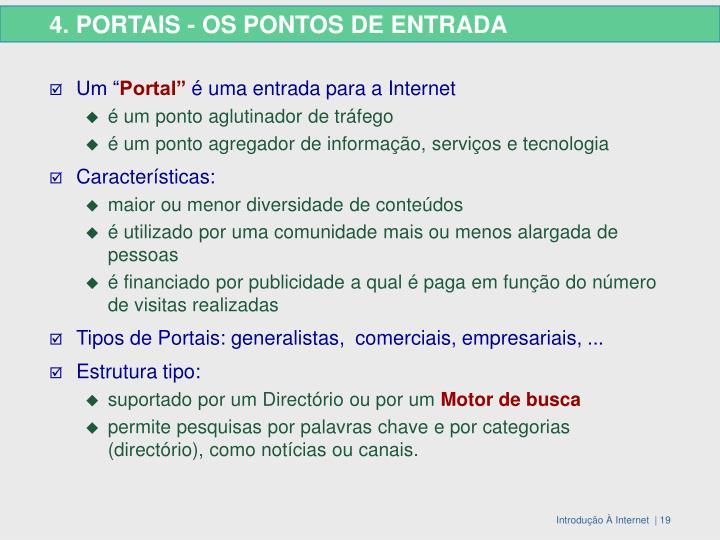 4. PORTAIS - OS PONTOS DE ENTRADA