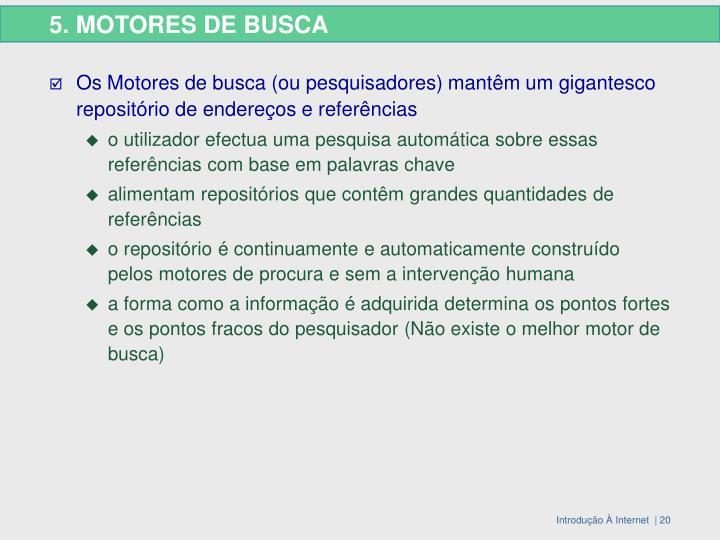 5. MOTORES DE BUSCA