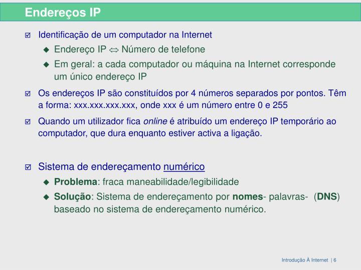 Endereços IP