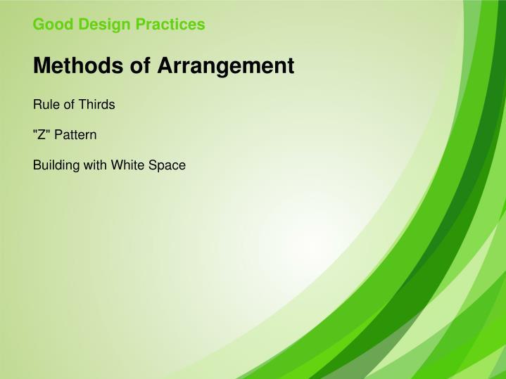 Good Design Practices