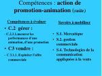 comp tences action de promotion animation suite