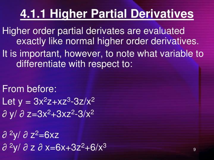 4.1.1 Higher Partial Derivatives