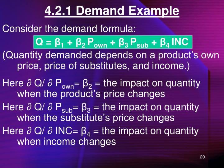 4.2.1 Demand Example