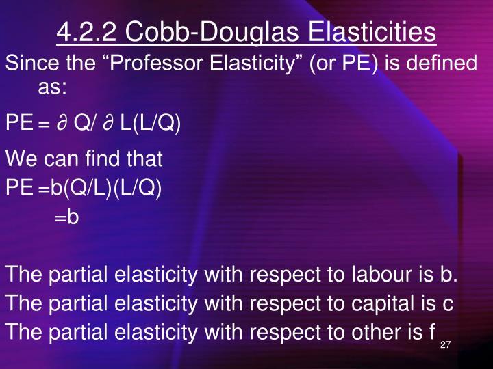4.2.2 Cobb-Douglas Elasticities