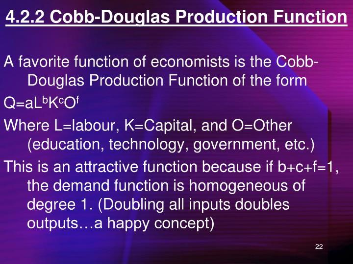 4.2.2 Cobb-Douglas Production Function