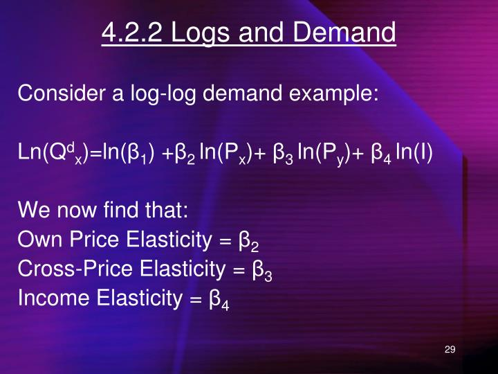 4.2.2 Logs and Demand