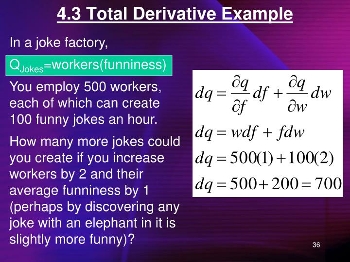 4.3 Total Derivative Example