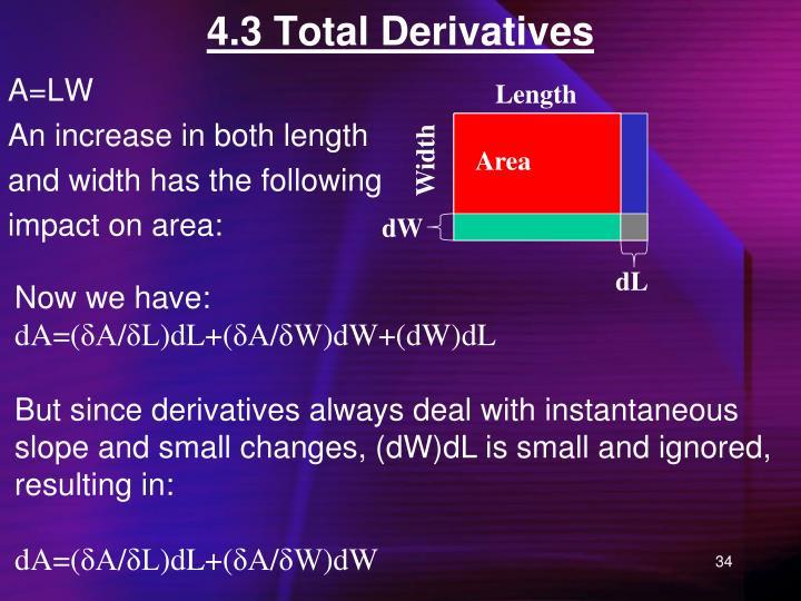 4.3 Total Derivatives