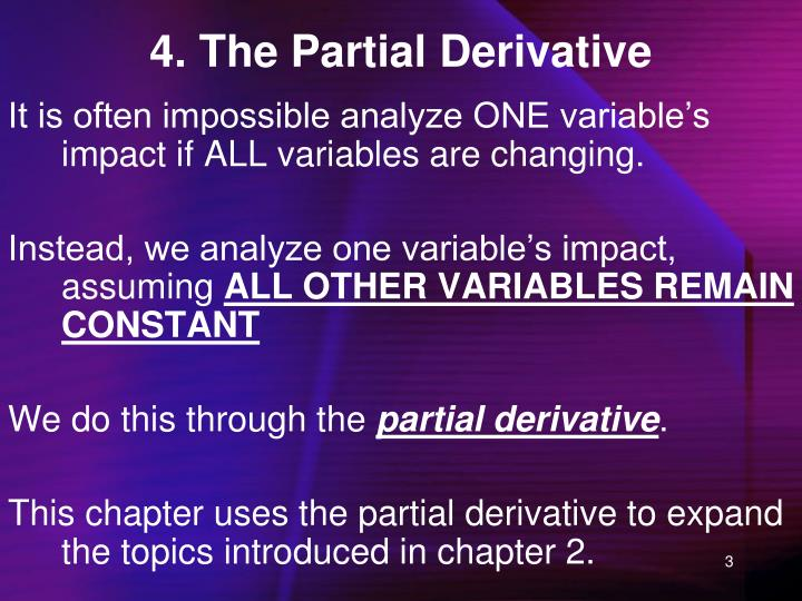 4. The Partial Derivative