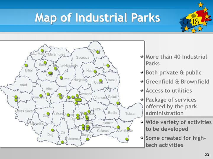 Map of Industrial Parks