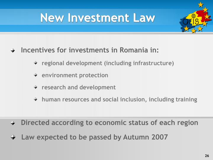 New Investment Law