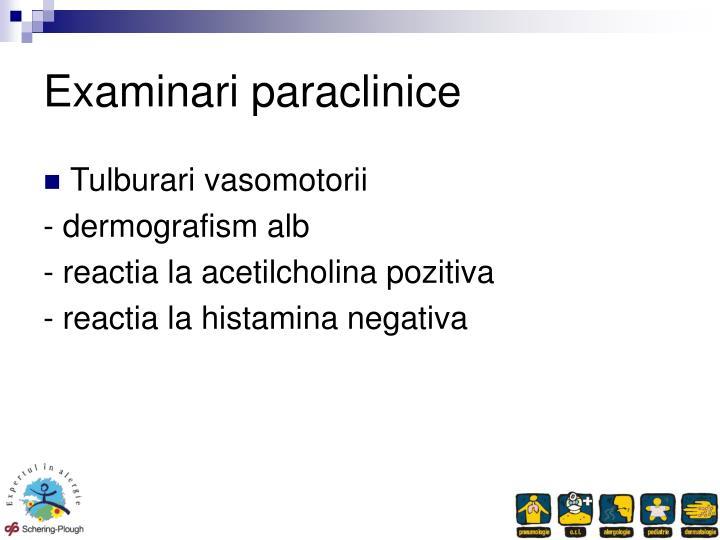 Examinari paraclinice