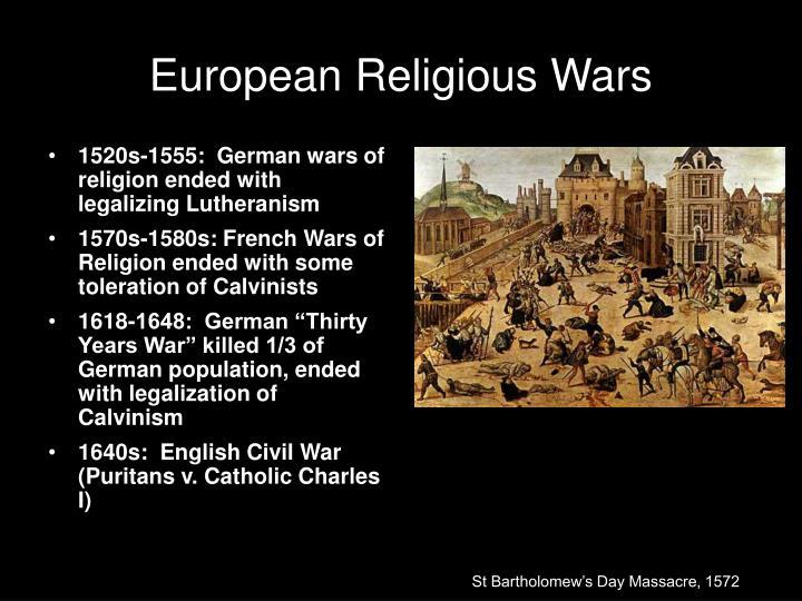 European Religious Wars