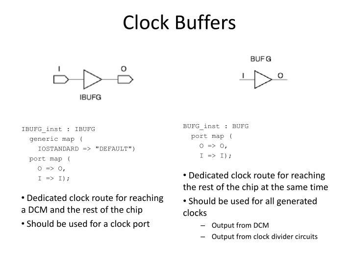 Clock Buffers