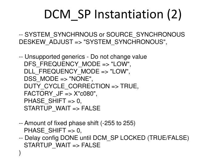 DCM_SP Instantiation (2)