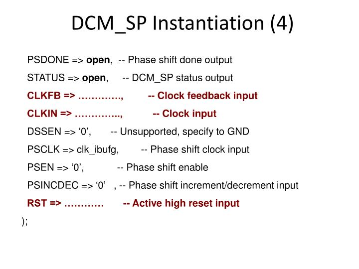 DCM_SP Instantiation (4)