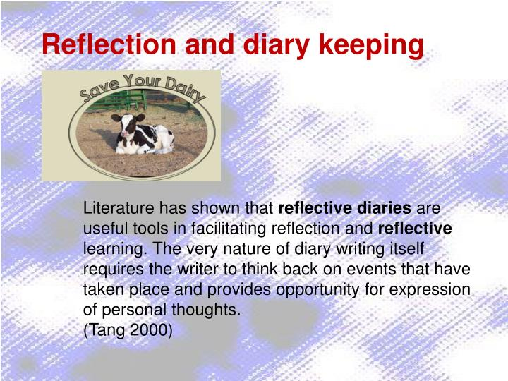 Reflection and diary keeping