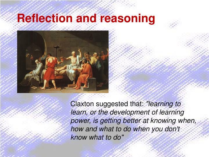Reflection and reasoning