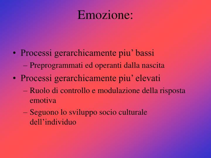 Emozione: