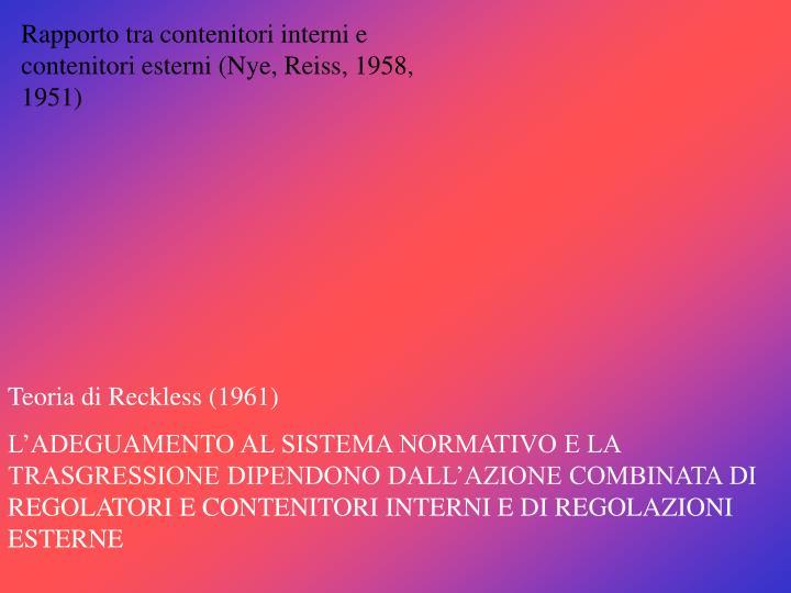 Rapporto tra contenitori interni e contenitori esterni (Nye, Reiss, 1958, 1951)