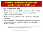 current investment landscape and forecast for 2011 cont d
