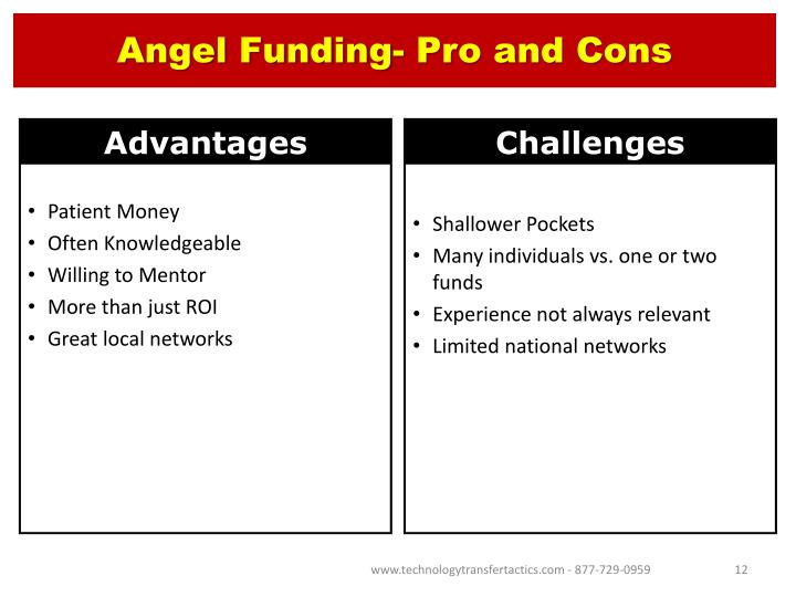 Angel Funding- Pro and Cons