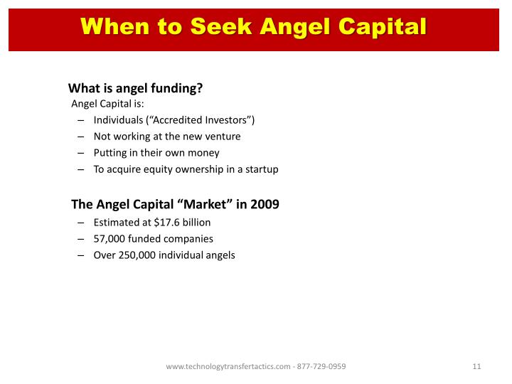 When to Seek Angel Capital