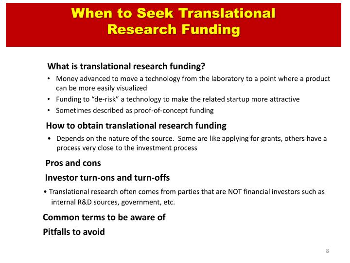 When to Seek Translational