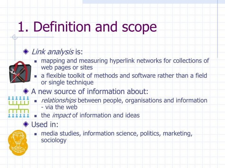 1. Definition and scope