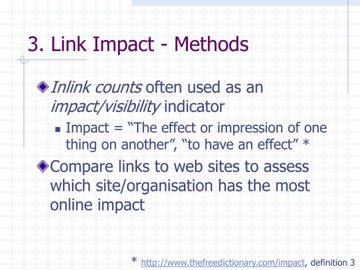 3. Link Impact - Methods