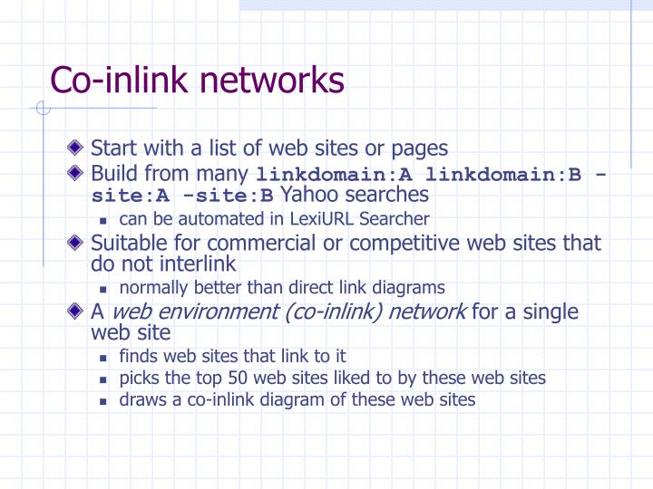 Co-inlink networks