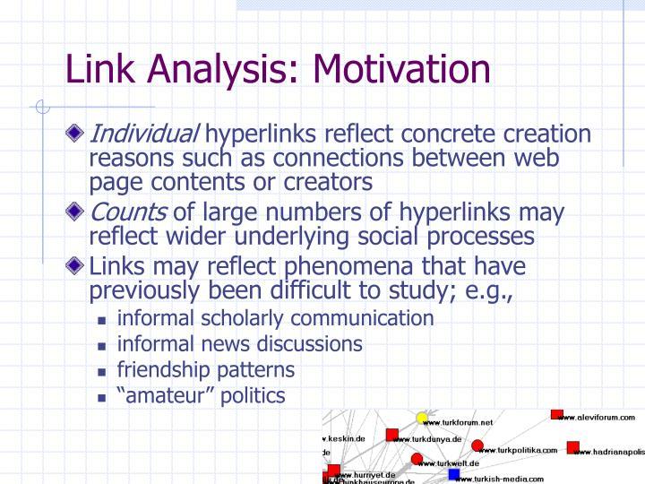 Link Analysis: Motivation