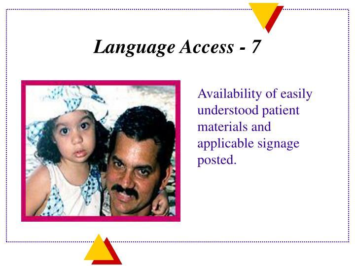 Language Access - 7