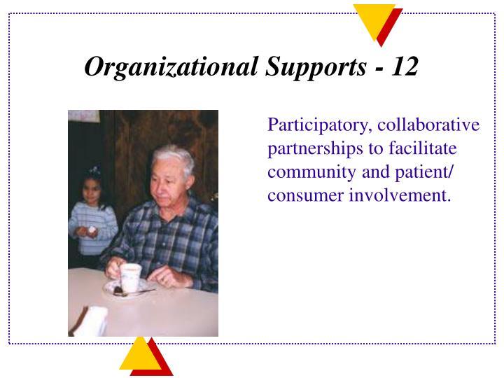 Organizational Supports - 12